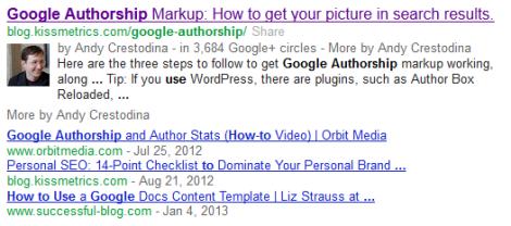 Google Author Example